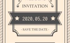 简约浪漫欧式复古婚礼邀请函高端大气H5模板缩略图