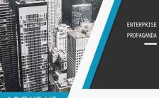 简约大气企业宣传手册商务蓝H5模板缩略图