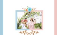 简约韩式清新唯美浪漫婚礼邀请函H5模板缩略图