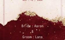 红色婚礼请柬古典优雅金色大气个性时尚婚礼邀请函缩略图