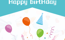 可爱卡通宝宝生日宴邀请函H5模板缩略图