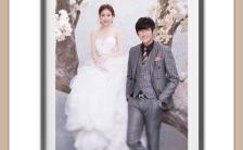 淡雅轻奢韩版韩式韩风式喜庆大气结婚婚礼邀请函请柬缩略图