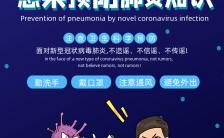 蓝色卡通简约新冠状病毒肺炎疫情防治宣传H5模版缩略图