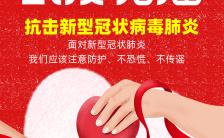 红色简约大方武汉加油新冠状病毒肺炎疫情防治宣传H5模版缩略图