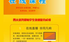黄色简约扁平风在线教育招生宣传H5模板缩略图