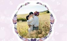 清新唯美浪漫粉色花纹婚礼邀请函婚礼请柬缩略图