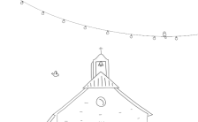 简约手绘黑白线条漫画可爱韩式婚礼请柬邀请函H5模板缩略图
