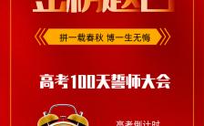 简洁大气红色冲刺高考100天誓师大会宣传通用H5模版缩略图
