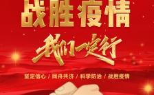 众志成城战胜疫情武汉加油宣传推广H5模板缩略图