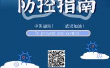 春天疫情返工防控防护知识蓝色宣传H5模板缩略图
