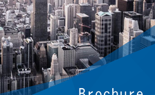 蓝色简约商务企业宣传册招商手册H5模板缩略图
