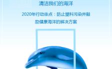 蓝色简约世界海洋日保护环境公益宣传H5模板缩略图