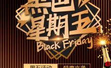 黑色星期五大牌品牌新品折扣促销H5模板缩略图
