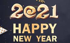 时尚黑金企业新年祝福企业宣传H5模板缩略图