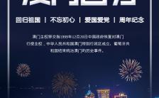 蓝色澳门回归21周年庆典活动邀请函H5模板缩略图