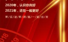 红色喜庆2021年会企业新年祝福H5模板缩略图