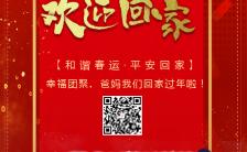 红色喜庆简约春运节日祝福宣传H5模板缩略图