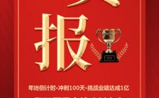 喜报科技公司百日会战冲刺大会H5模板缩略图