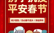 春节防疫春运疫情宣传防控H5模板缩略图