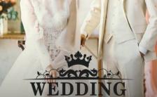 白色高端简约婚礼邀请函结婚请帖电子H5模板缩略图