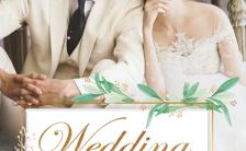 白色简约韩系婚礼邀请函结婚请帖H5模板缩略图