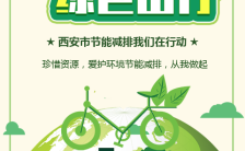 绿色清新风鼓励大家节能减排支持环保事业宣传H5缩略图