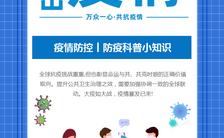 抗击疫情防疫科普小知识宣传H5模板缩略图
