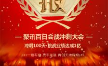 红色企业业绩战报百日冲刺动员大会H5模板缩略图
