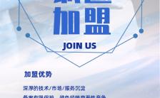 大气时尚汽车代理加盟招商宣传蓝色手机海报缩略图