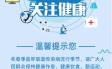 医疗卫生预防流感疫情防范呼吸病毒知识宣传海报缩略图