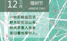 绿色植树节种树公益手机海报缩略图