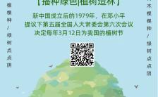 植树节手绘公益低碳环保宣传海报缩略图