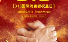 315国际消费者权益日大气红色宣传海报缩略图