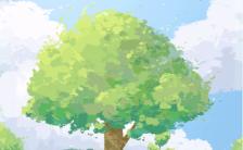 312植树节种树环保绿色倡议公益活动宣传手机海报缩略图