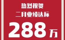 喜报贺报业绩宣传简约扁平红色风格公司企业公告宣传海报模板缩略图