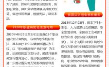 党政风大气职业病防治法宣传周职业健康宣传手机海报缩略图