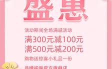 新店开业新品发布商家活动促销粉色清新海报缩略图