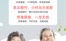 绿色清新简约医疗保险行业健康产品介绍宣传海报缩略图