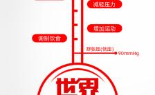 红色简约世界高血压日宣传海报缩略图