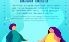 国际家庭日幸福一家人亲子温馨公益海报缩略图