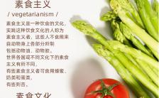 扁平设计简约素食健康日公益宣传手机海报缩略图