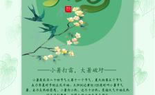小暑文艺清新绿色小暑文化宣传海报缩略图