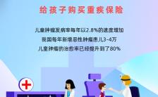蓝色扁平简约重疾险医疗保险行业金融理财宣传海报缩略图