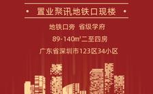红色大气喜庆房地产低首付抢购活动地产家居行业促销海报缩略图
