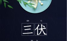 高端中国风通用行业三伏天养生通知宣传海报缩略图