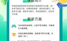 绿色清新暑假培训班招生手机海报缩略图