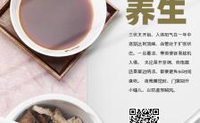 中国风小清新医疗行业三伏天养生茶促销宣传介绍海报缩略图