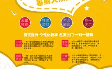 扁平插画风中小学暑假培训招生宣传手机海报缩略图