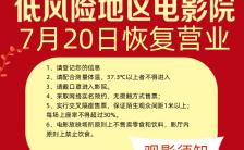 红色大气电影院复业宣传手机海报缩略图