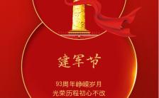 红色大气建军节宣传纪念祝福海报缩略图